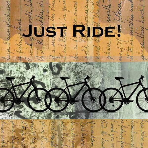 Wall Art - Mixed Media - Just Ride by Nancy Merkle