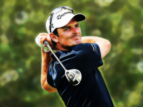 Mixed Media - Justin Rose by Marvin Blaine
