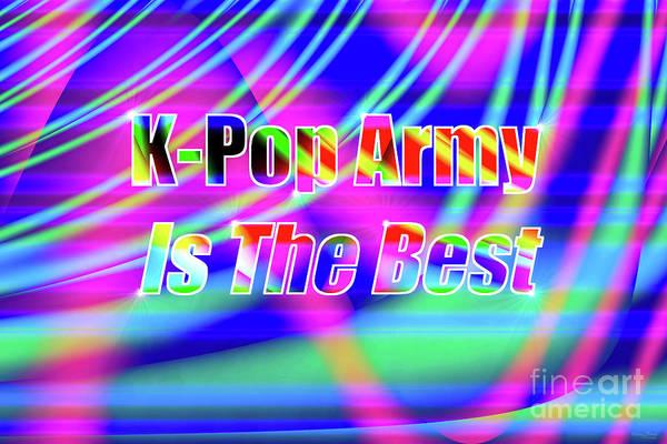 Wall Art - Digital Art - K-pop Army Art by Jennifer White