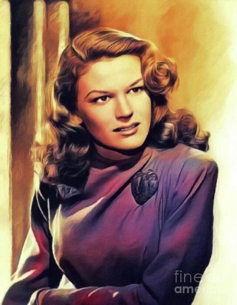 Steven Painting - K. T. Stevens, Vintage Actress by John Springfield
