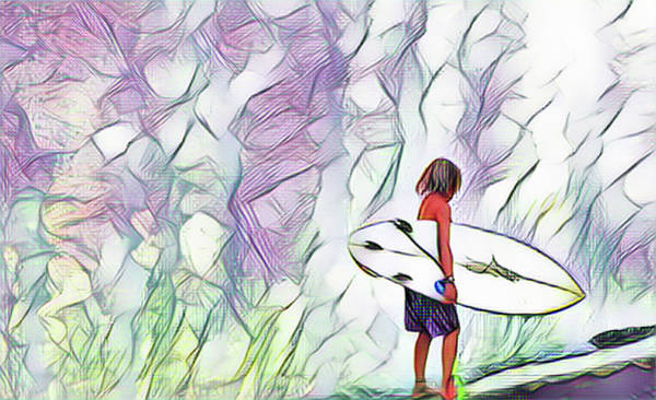 Digital Art - Ka Nalu Nui Loa by Don J Gray