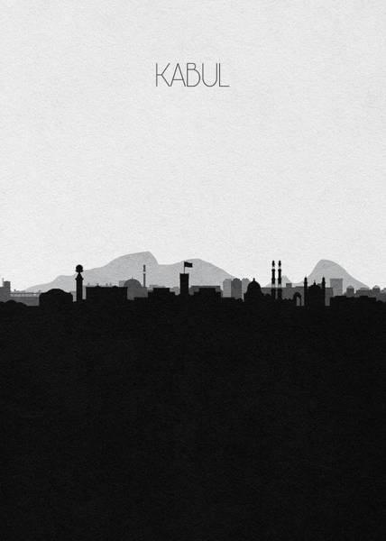 Digital Art - Kabul Cityscape Art by Inspirowl Design