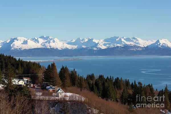 Wall Art - Photograph - Kachemak Bay And Homer Alaska by Louise Heusinkveld