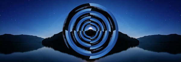 Wall Art - Photograph - Kachess Lake Reflection Circles by Pelo Blanco Photo