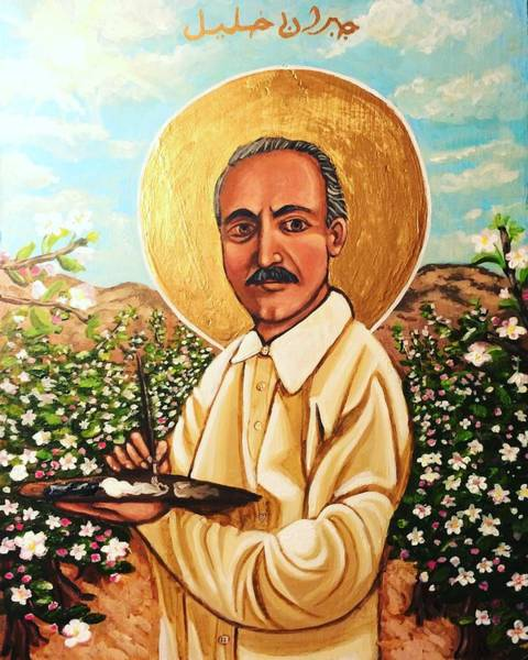 Painting - Kahlil Gibran by Kelly Latimore