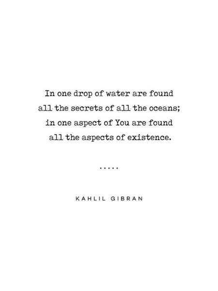 Wall Art - Mixed Media - Kahlil Gibran Quote 05 - Typewriter Quote - Minimal, Modern, Classy, Sophisticated Art Prints by Studio Grafiikka