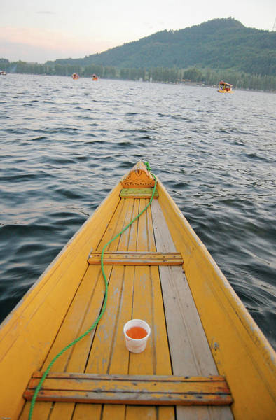Dal Lake Photograph - Kahwa Tea On Shikara by Selvin
