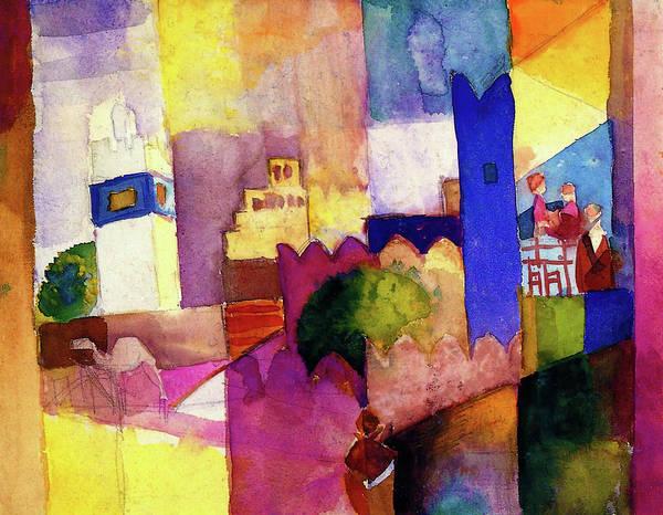 Wall Art - Painting - Kairouan IIi - Digital Remastered Edition by August Macke