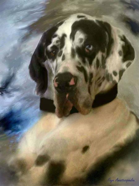 Black Great Dane Painting - Kaiser by Faye Anastasopoulou