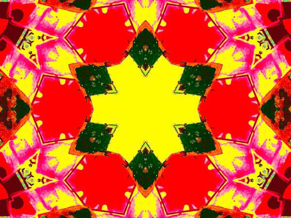 Digital Art - Kaleidoscope Abstract 10c by Artist Dot