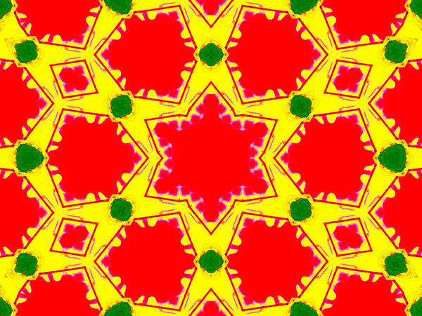 Digital Art - Kaleidoscope Abstract 15c by Artist Dot
