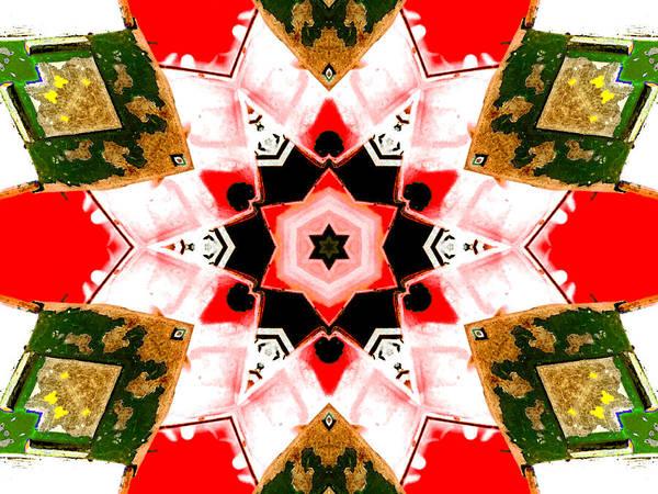 Digital Art - Kaleidoscope Abstract 9a by Artist Dot