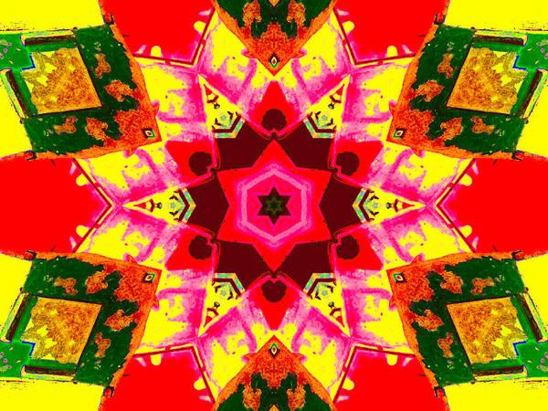 Digital Art - Kaleidoscope Abstract 9c by Artist Dot