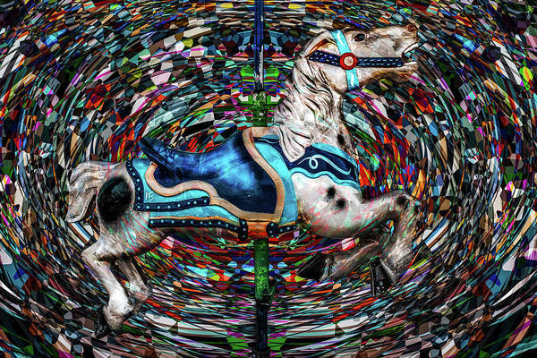 Photograph - Kaleidoscope Carousel  by Michael Arend