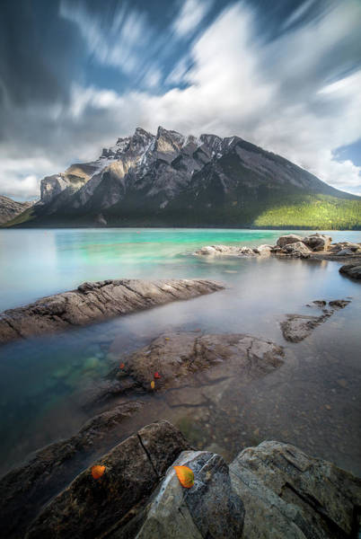 Photograph - Kaleidoscope Of Fall Color / Lake Minnewanka, Alberta, Canada by Nicholas Parker