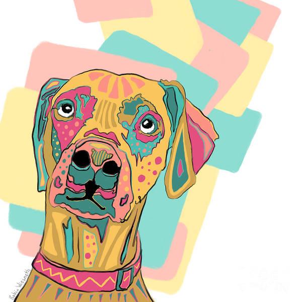 Wall Art - Digital Art - Kaleidoscope Puppy by Robin Wiesneth