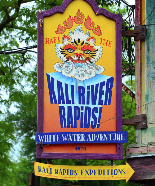 Wall Art - Photograph - Kali River Rapids Sign A by David Lee Thompson
