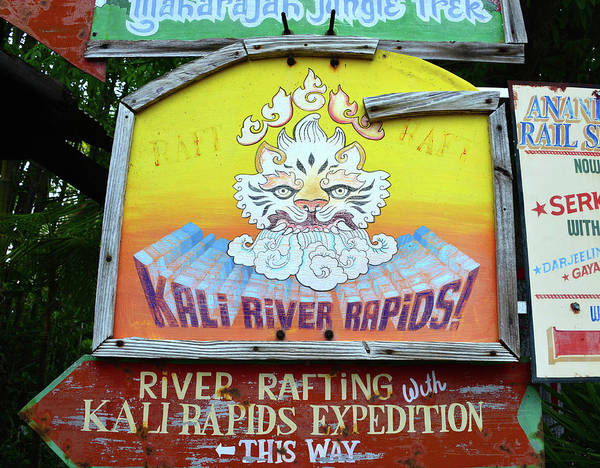 Wall Art - Photograph - Kali River Rapids Sign by David Lee Thompson
