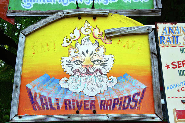 Wall Art - Photograph - Kali River Rapids Tiger Sign by David Lee Thompson