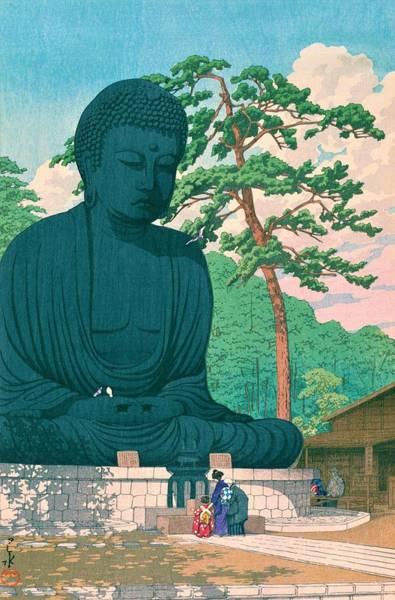 Wall Art - Painting - Kamakura Daibutsu - Top Quality Image Edition by Kawase Hasui