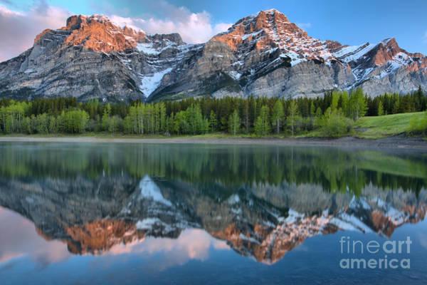 Photograph - Kananaskis Mountain Reflections by Adam Jewell