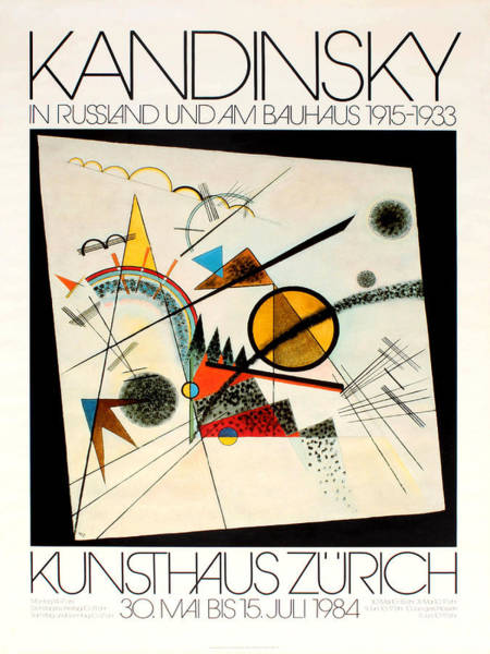 Photograph - Kandinsky Exhibition 1984 by Andrew Fare