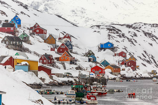 Arctic Wall Art - Photograph - Kangamiut Village In The Middle Of by Vadim Nefedoff