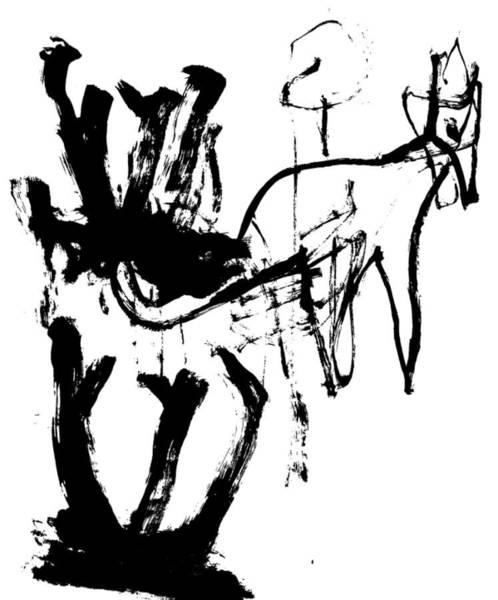 Drawing - Kangaroo by Artist Dot