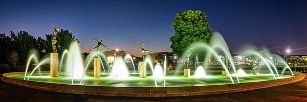 Photograph - Kansas City Children's Fountain Panorama - Missouri by Gregory Ballos