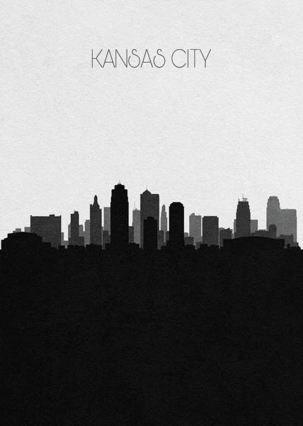 Souvenir Digital Art - Kansas City Cityscape Art by Inspirowl Design