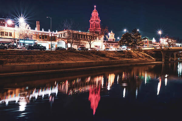 Photograph - Kansas City Country Club Plaza Lights At Night by Gregory Ballos