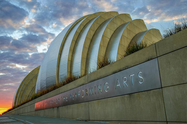 Photograph - Kansas City Performing Arts Center With Sunrise Perspective by Gregory Ballos