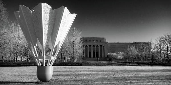 Photograph - Kansas City Shuttlecock And Museum Infrared Panorama by Gregory Ballos