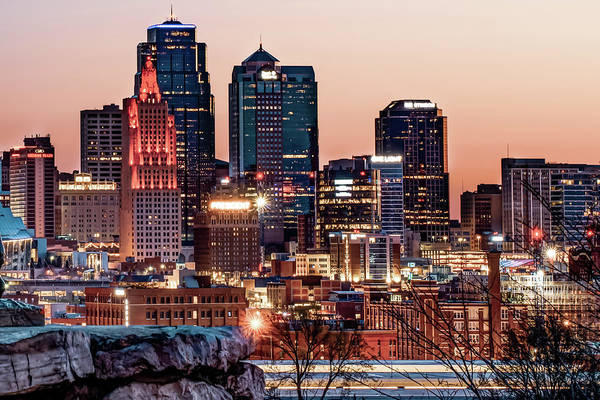 Photograph - Kansas City Skyline At Red Dawn by Gregory Ballos