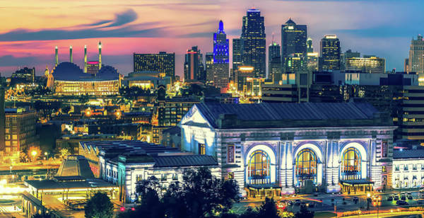 Photograph - Kansas City Union Station Skyline by Gregory Ballos