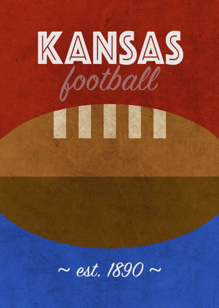 Wall Art - Mixed Media - Kansas College Football Team Vintage Retro Poster by Design Turnpike