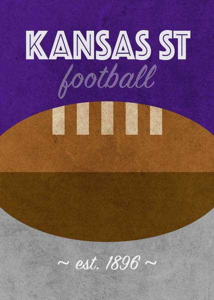 Wall Art - Mixed Media - Kansas State College Football Team Vintage Retro Poster by Design Turnpike