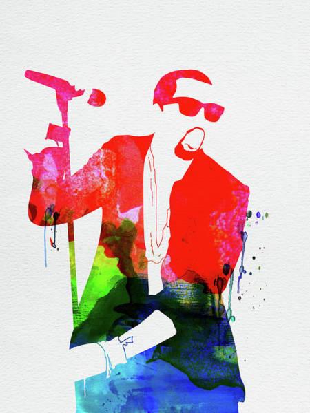 West Wall Art - Mixed Media - Kanye Watercolor by Naxart Studio