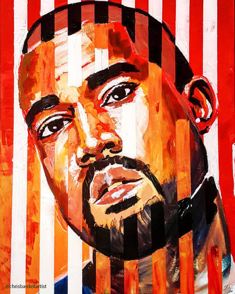 Kanye West Poster Wall Art - Painting - Kanye West by Chris Bardell