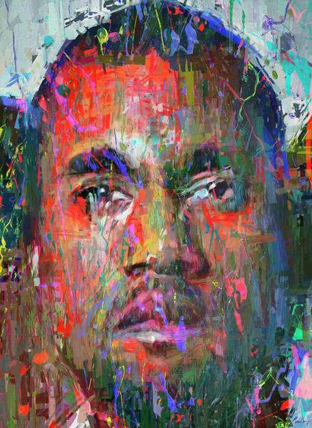Rap Mixed Media - Kanye West by Mal Bray