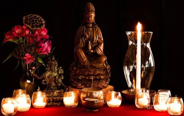 Photograph - Kanzeon Bosatsu - Zen Altar by Lita Kelley