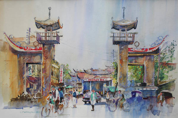 Painting - Kaoshiung Taiwan 1968 by P Anthony Visco