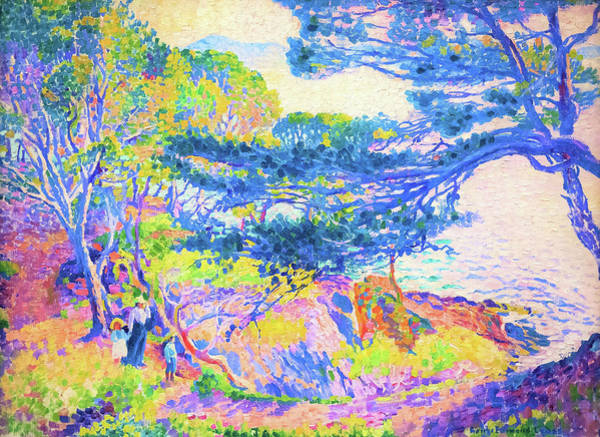 Wall Art - Painting - Kap Layet - Digital Remastered Edition by Henri Edmond Cross