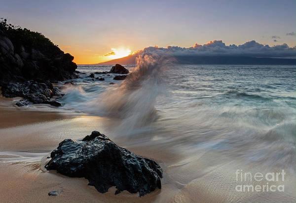 Wall Art - Photograph - Kapalua Bay Wave Dance by Mike Dawson