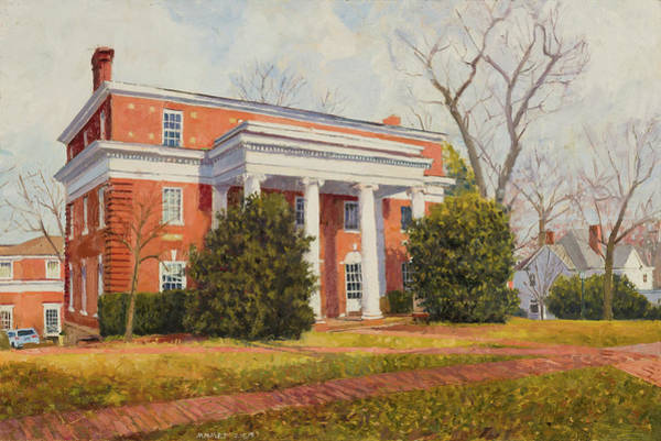 Wall Art - Painting - Kappa Sigma House, Uva  by Edward Thomas