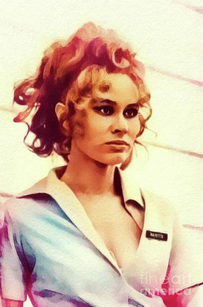 Wall Art - Painting - Karen Black, Vintage Actress by John Springfield