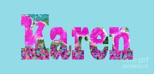 Digital Art - Karen by Corinne Carroll