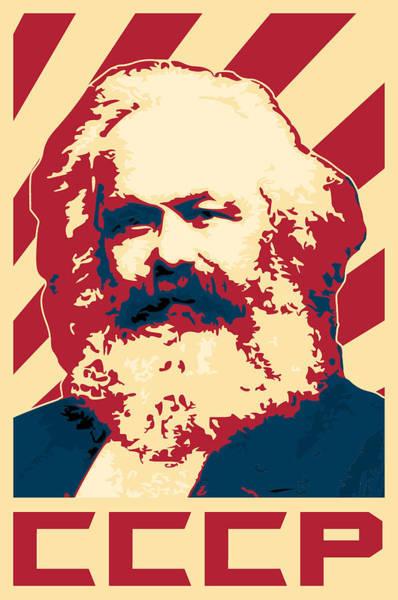 Propaganda Digital Art - Karl Marx Cccp Retro Propaganda  by Filip Hellman