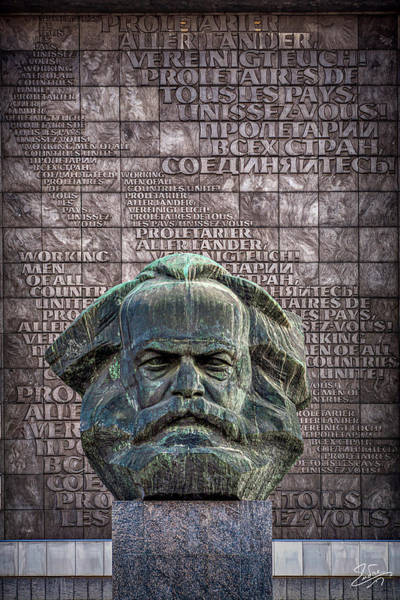 Photograph - Karl Marx Monument To Evil by Endre Balogh