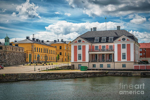 Wall Art - Photograph - Karlskrona County Governors Building Harbour Side by Antony McAulay